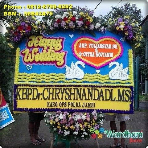 Bunga Papan Happy Wedding HW646WF