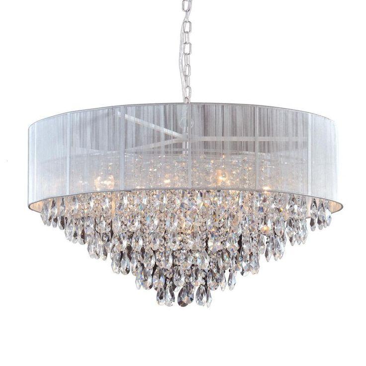 Zwis sufitowy 9pł SINGAPORE P09376WH Cosmo Light  Gustowna i elegancka lampa wisząca - kryształowa.