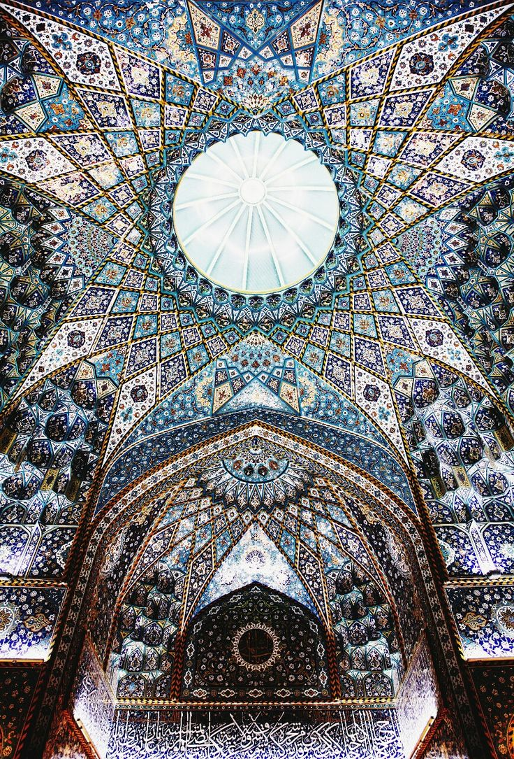 ceilng of the imam hussein shrine, karbala, iraq | islamic art + architecture