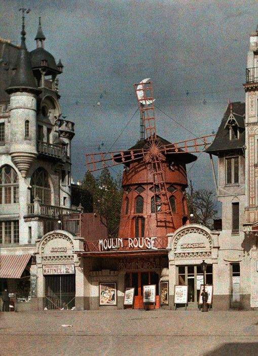 Удивительные цветные фото Парижа, сделанные более 100 лет назад история, париж, фотография