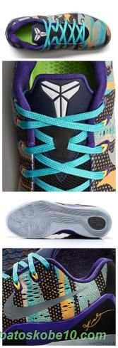 """Masculino Nike Kobe 9 EM Tribunal roxo/prata reflexo-manga atômico """" Pop Art Camo"""" 646701-508 produtos de basquete"""