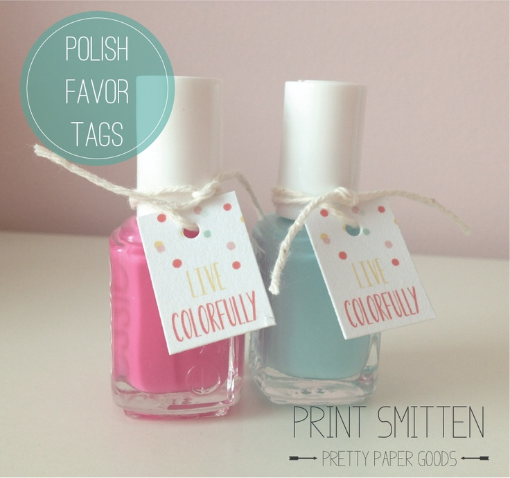 from etsy bridal shower baby shower favor tags nail polish favor tags ...
