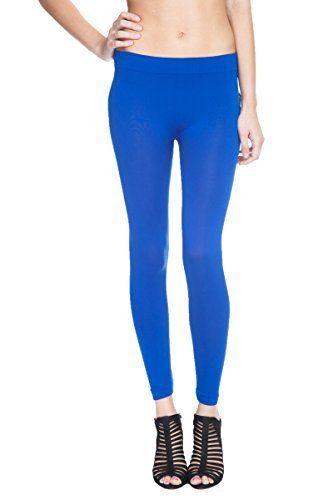 Emma's Mode Full Length Seamless Fleece Sports Yoga Leggings. Also in Plus Size