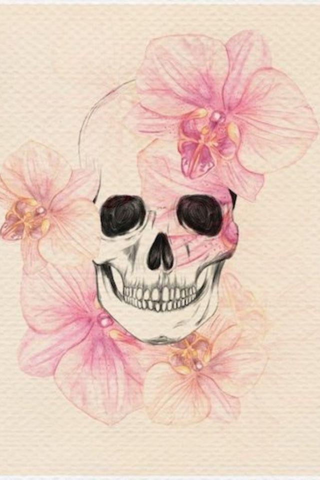 Girly skull | TATTOO | Pinterest