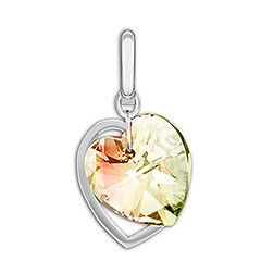 Very delicate, this extraordinary charm features two dangling hearts. One sparkles beautifully in Crystal Aurora Boreale while the other shines in rhodium-plated metal. As a gift, this romantic design says a thousand words! Article no.: 1161132