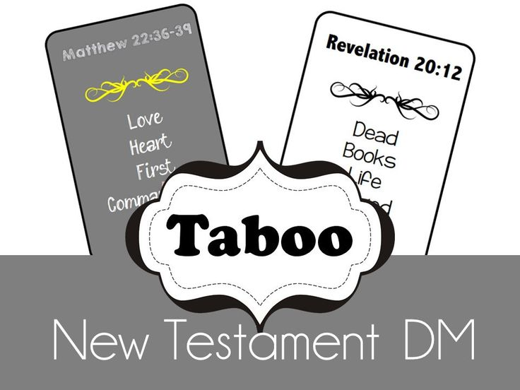 Doctrinal Mastery New Testament Taboo Game - LDS Seminary Class - Printable - Updated by OldfieldDesigns on Etsy