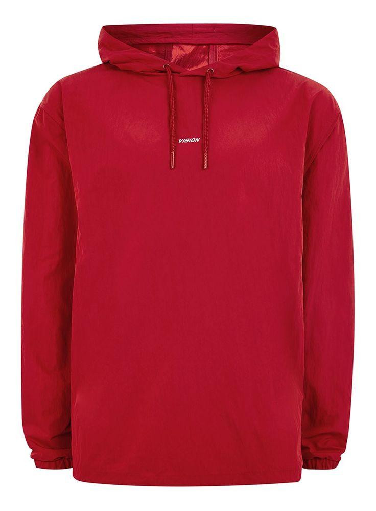 VISION STREET WEAR Red Nylon Hoodie