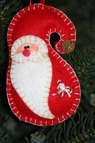 Felt Santa ornie
