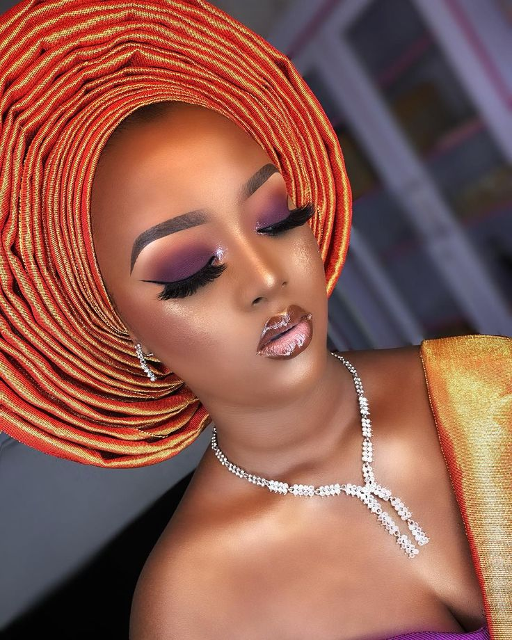 "Nigerian Makeup Artist. on Instagram ""Beautiful Oyin ️"