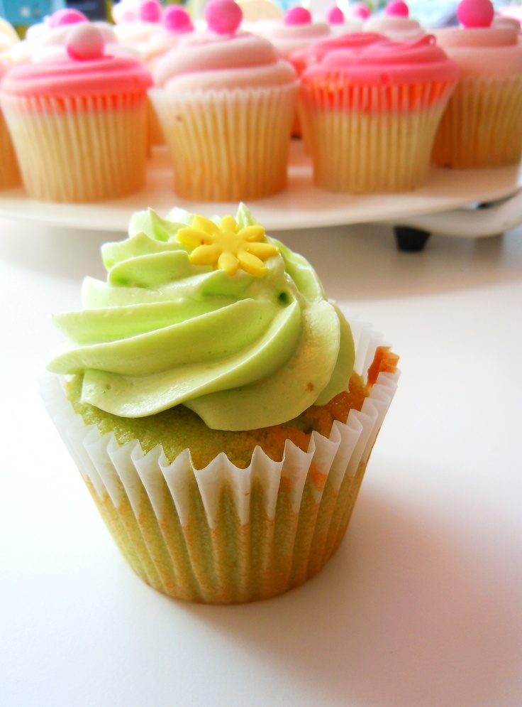 The summery lime cupcake from Bakes & Goods by Yonge & Eglinton in Toronto.