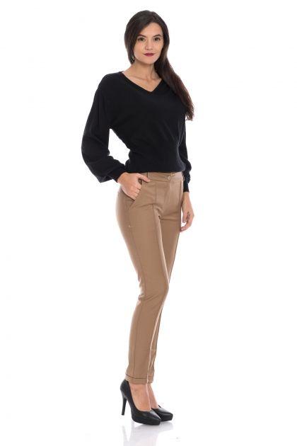 Pantaloni office cu dunga in fata Claudia
