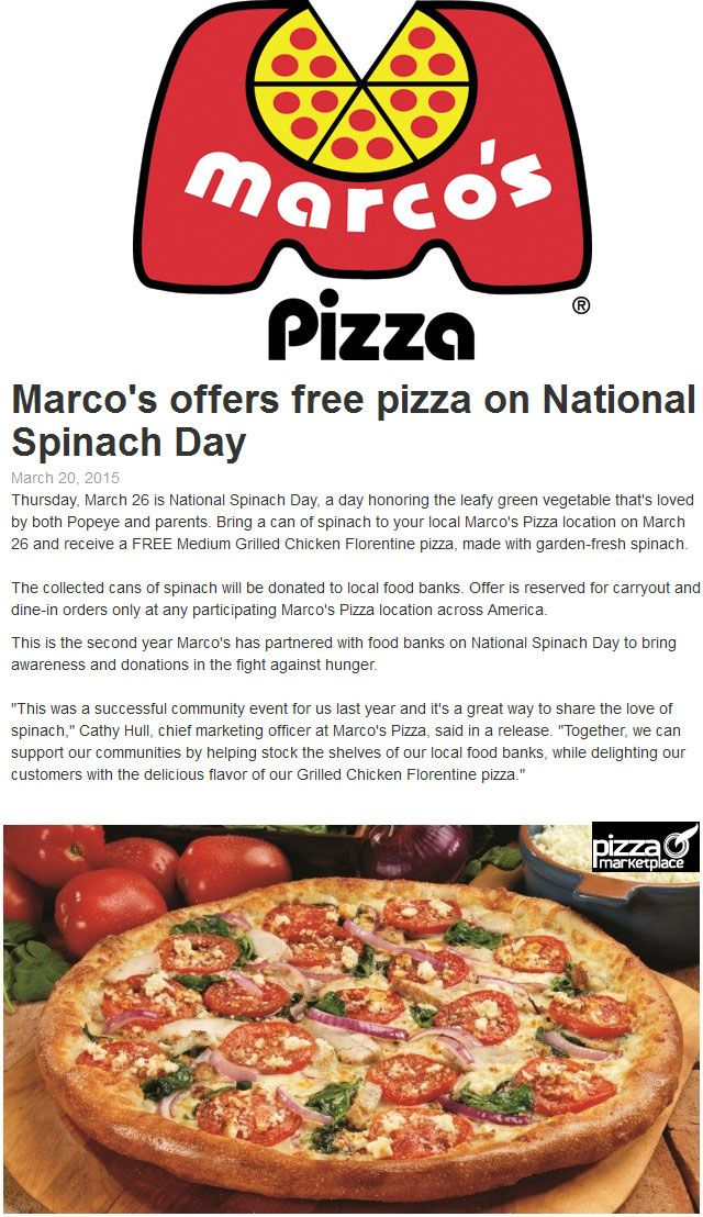 Marcos coupons march