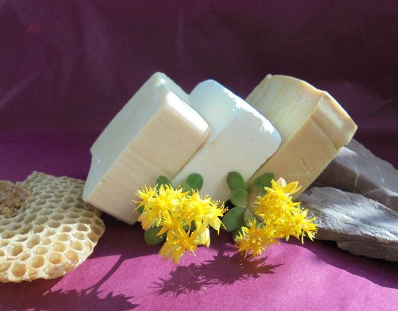 Gift Set of 3 Soaps with Greek Extra Virgin Olive by MelirrousBees