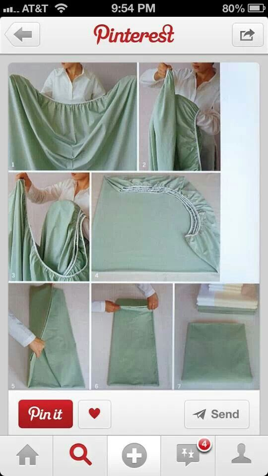Ok i never learned how to fold a sheet until 43 years old! now i love how my linen closet looks! - How to fold a fitted sheet