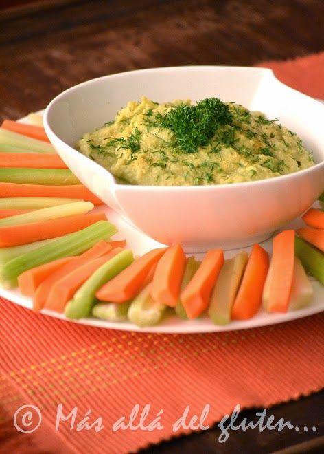 Más allá del gluten...: Guaca-Hummus (Receta GFCFSF, Vegana)