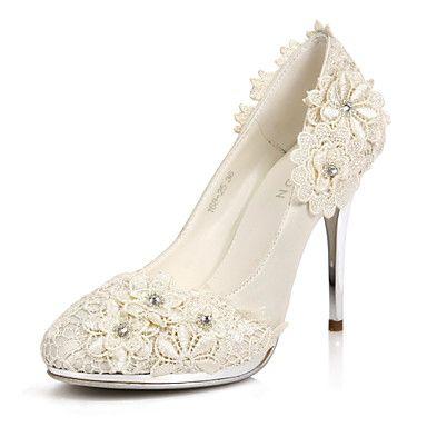 花の結婚式/パーティー靴でエレガントなサテンスティレットヒールパンプス/クローズドつま先