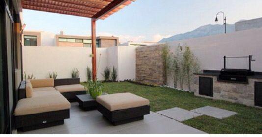 Terraza terrazas pinterest terrazas jardines y jard n for Asador en patio pequeno