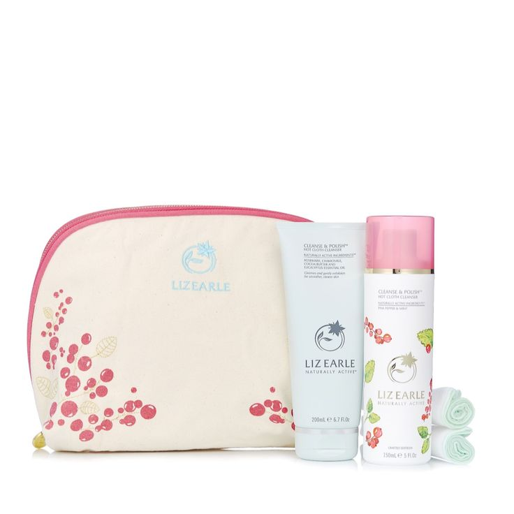 233303 - Liz Earle Limited Edition Ultimate Cleansing Duo  QVC PRICE: £35.50 + P&P: £4.95  This ultimate cleansing duo from Liz Earle features a tube of the award-winning Cleanse & Polish in the original formula, as well as a limited edition Pink Pepper & Mint formulation, plus two muslin cloths and a gorgeous canvas wash bag. Leave your skin feeling thoroughly cleansed and smooth with this fabulous duo.