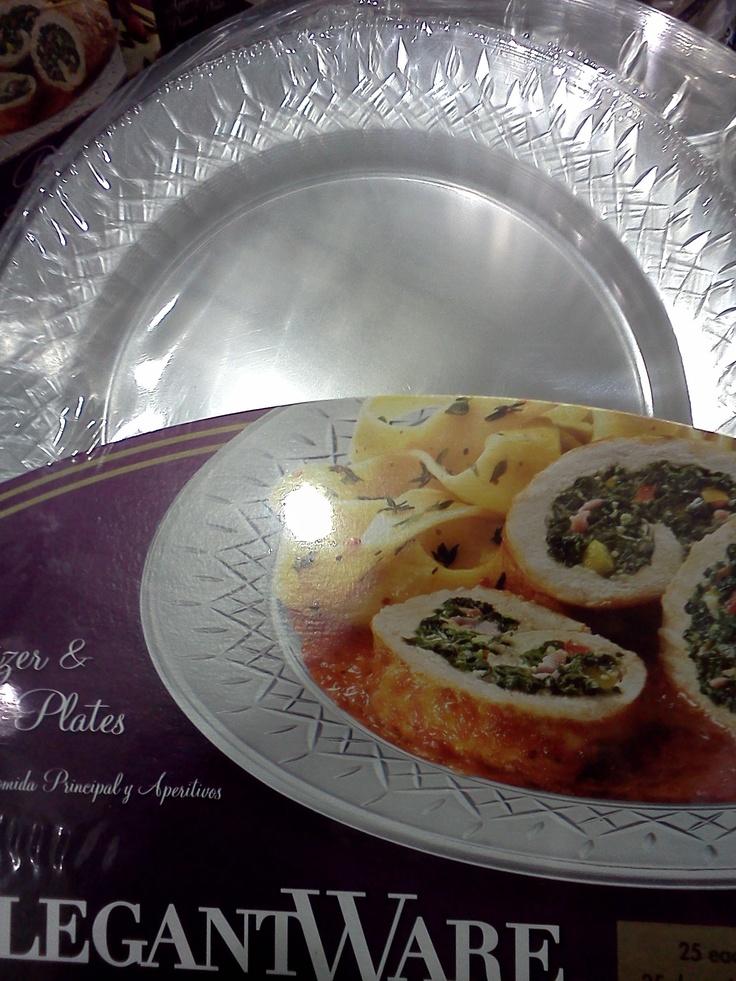 Elegant Clear Plastic Plates 50 Ct Costco 10 59