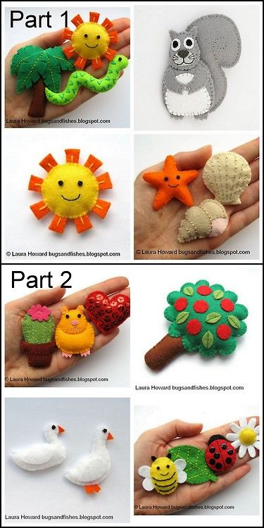 DIY Felt Creatures Tutorials and Templates from Bugs and Fishes...