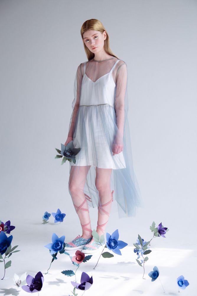 """Платье прозрачное """"Серый сад"""" / Transparent dress """"Gray garden"""""""