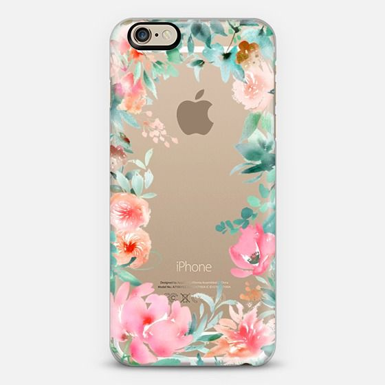 Lush Floral Watercolor Transparent by Julie Song Ink - Classic Snap Case