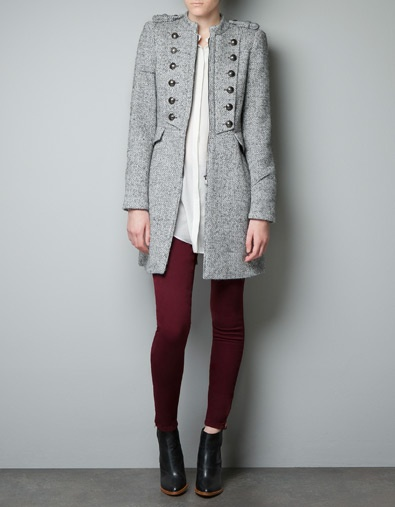 Wool military coat by Zara