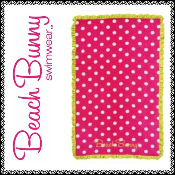 ⛱ NWT Beach Bunny  XL Polka Dot Towel‼️ Gorgeous NEW beach bunny towel! Discontinued & no longer available! A must for any Beach Bunny collector! OPEN TO OFFERS as long as they're not low ball I'll consider it! Beach Bunny Swim Coverups
