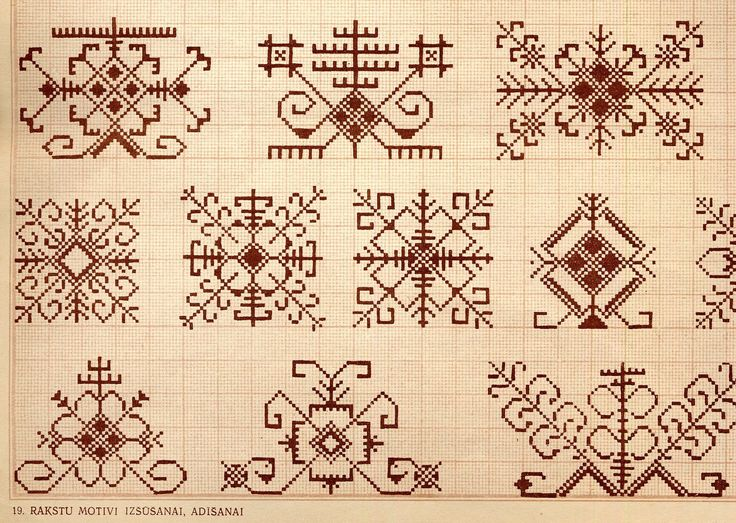 latvian mitten pattern | Designs for coverlets, best for weaving, athough they could be knitted ...