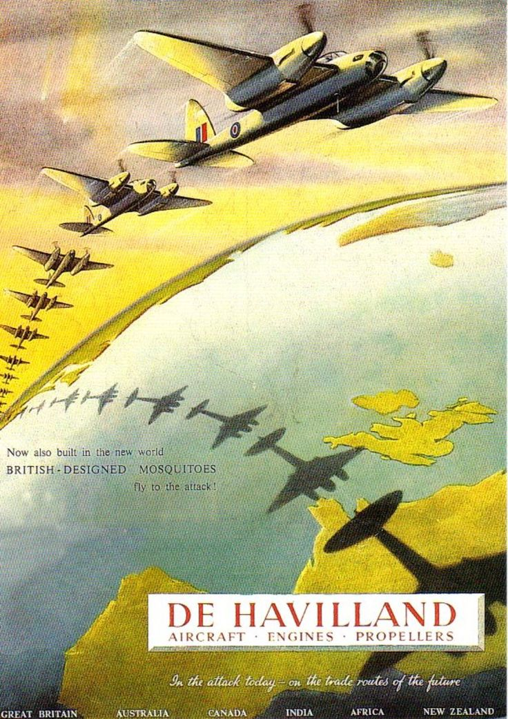 British WWII poster/advertisement for de Havilland