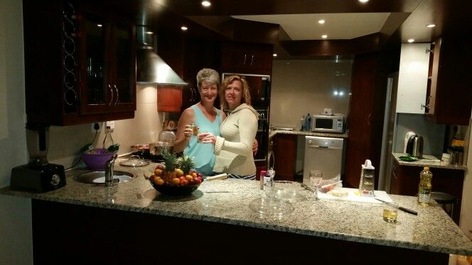 Carina and amanda our chefs for the night