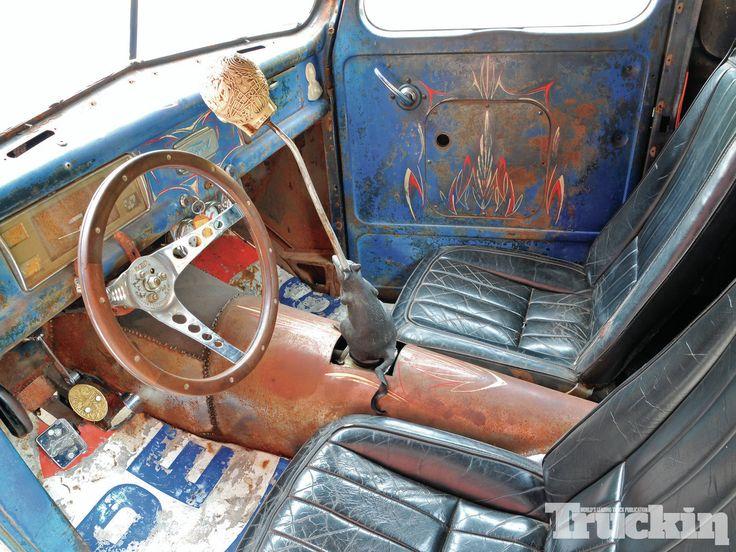 1941 Ford Pickupt Rat Rod Interior Truck Pinterest