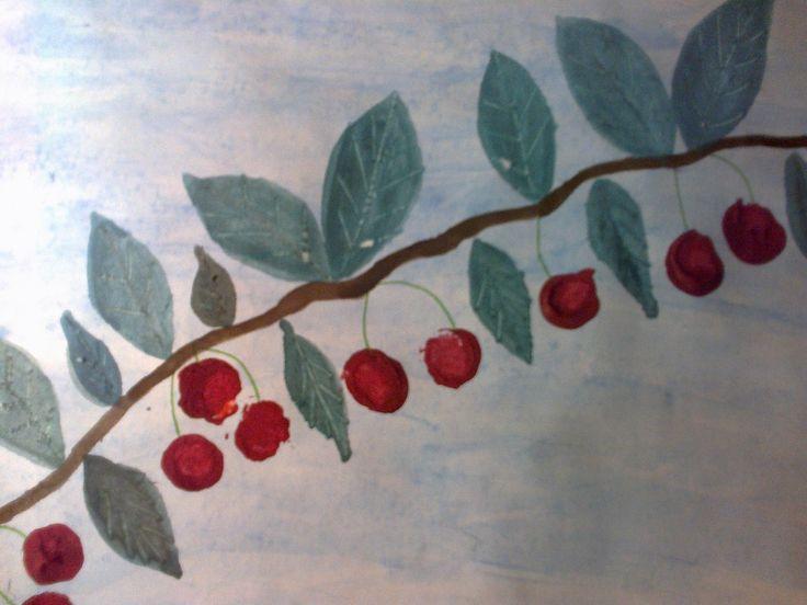 Cseresznyefa ág parafadugóból