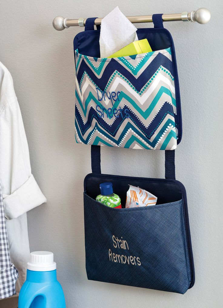 Thirty-one's Oh-Snap Pockets are the perfect way to organize small spaces! Great for small bathrooms or small laundry room organization!