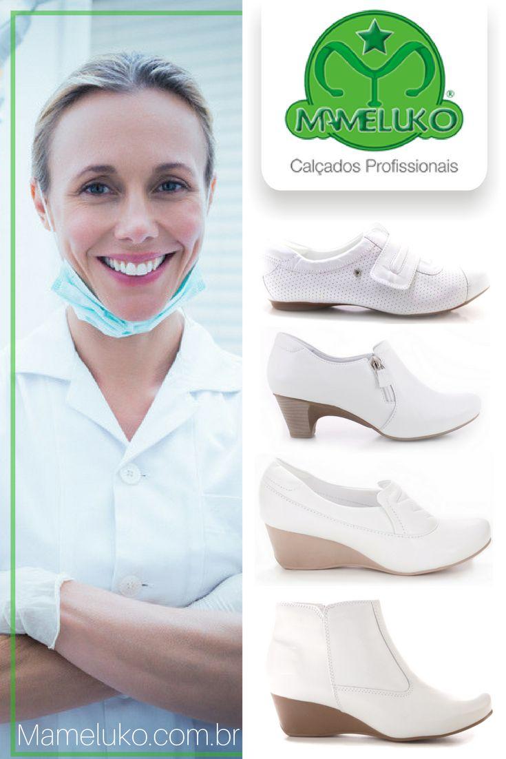 O Profissional da Área de Odontologia tem por característica comum exigir 3 importantes pontos na escolha de um Calçado Profissional: Conforto; De acordo com a NR-32 (Norma dos Dentistas e Auxiliares de Saúde Bucal (ASB); Estilo.