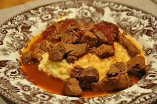 ... Spicy Stewed Beef with Creamy Cheddar Grits | Dinner Time! | Pinterest