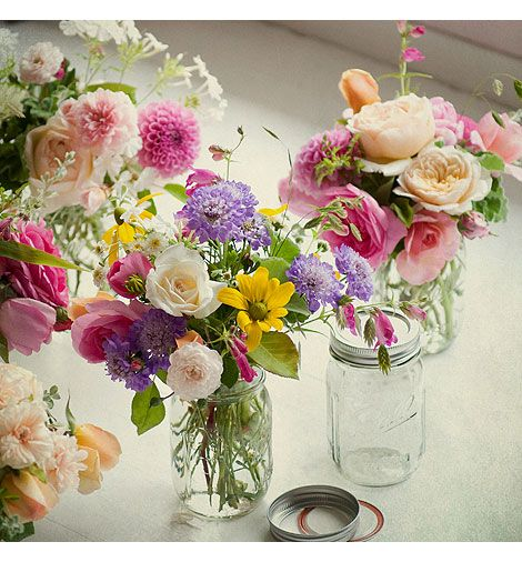 Flowers In Jars Wedding: 17 Best Images About Wedding Flowers And Decor