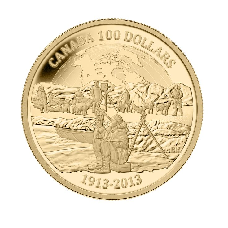 14k Gold Coin - 100th Anniversary of the Canadian Arctic Expedition - Mintage: 2500 (2013)