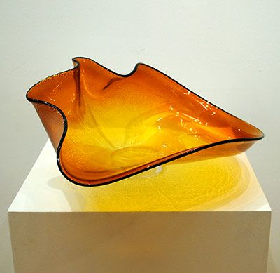 """""""Orange Bowl"""" 9x19"""" Glass Bowl by David Thai. Available at Crescent Hill Gallery in Mississauga, ON"""