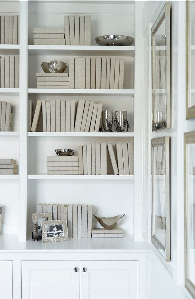 Grey Linen Covered Books, Michael Aram Accessories.