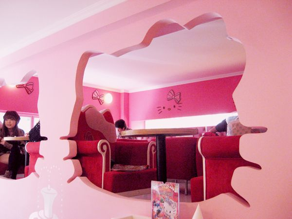 Hello Kitty Cafe. Seoul, South Korea.