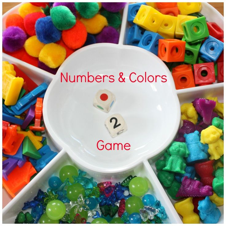 Preschool Numbers & Colors Grid Game. Playing with and rolling dice is good for fine motor (in-hand manipulation skills), plus this activity emphasizes moving left to right just like when reading and writing!