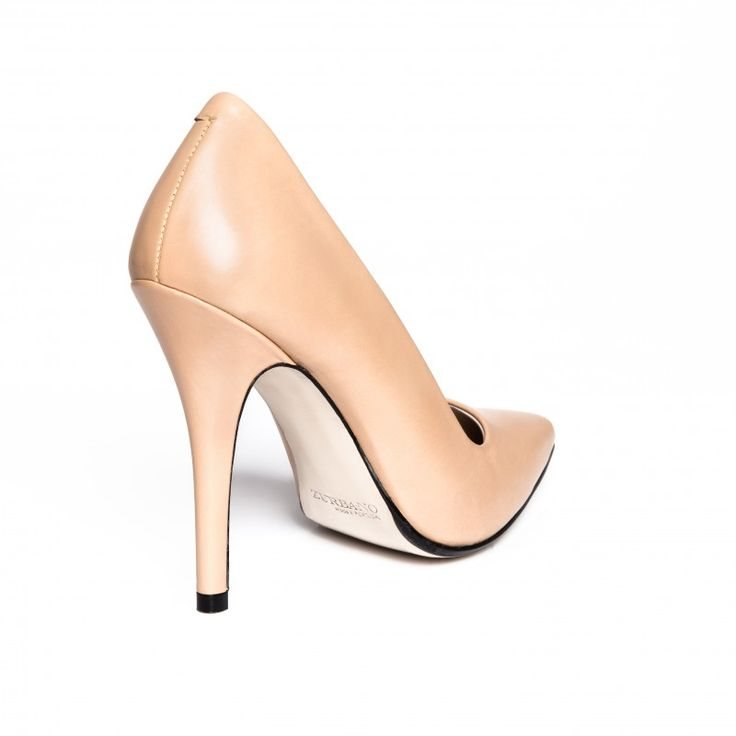 ZURBANO | Vitea - Nude pumps in calf leather with leather outsole.