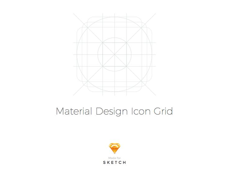 Sketch - Material design icon template