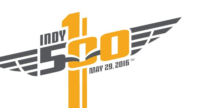 Logo for the 100th running of the Indy 500