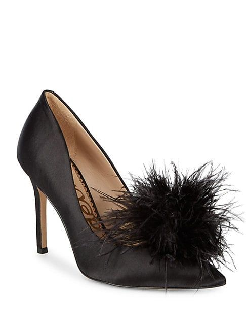 02b4edc1c7c5 SAM EDELMAN HAIDE SATIN FEATHER PUMPS.  samedelman  shoes