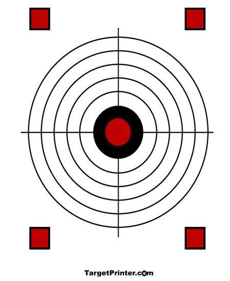 Printable Target Large Crosshair Gun Shooting Range ...