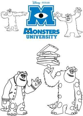 79 best coloring pages images on pinterest | drawings, coloring ... - Monsters Coloring Pages Sully