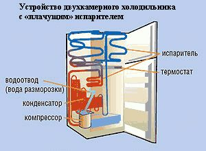 Устройство двухкамерного холодильника