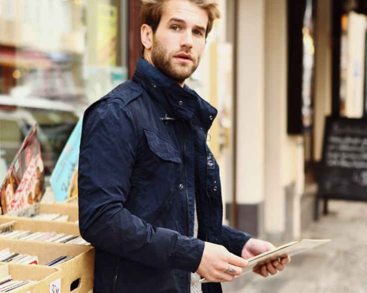 Modern style in a vintage records' market. Get into André Hamann's Double Life with Fay. Shop now: http://store.fay.com/Fay/c/217-Fay  www.fay.com
